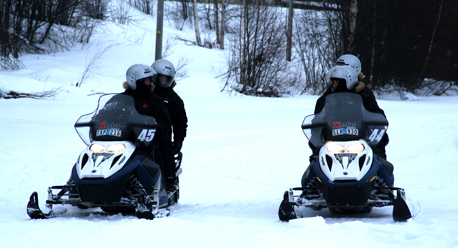 Experience a snow mobile tour.